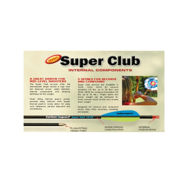 Tube CARBON IMPACT Super Club