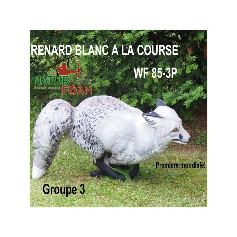 3D NATURFOAM Renard Blanc à la course