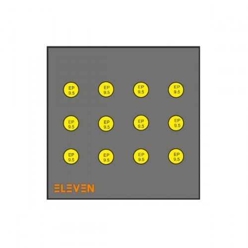 Cible Mousse ELEVEN 100 x 100 + 12 inserts 9.5